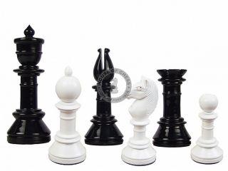 Antique Reproduction Chess Set Pieces Black Ivory 2 Extra QNS