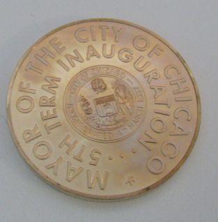 Mayor Richard J Daley Inauguration Chicago Commemorative Coin