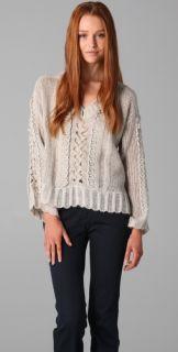 Nanette Lepore Sassy Stitch Pullover Sweater