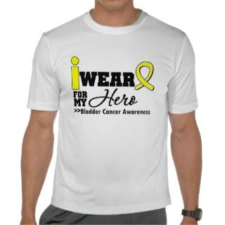 Bladder Cancer I Wear Yellow Ribbon For My Hero Tees