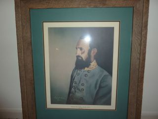 THOMAS J. (STONEWALL) JACKSON BY ROBERT KARR FRAMED PRINT CIVIL WAR