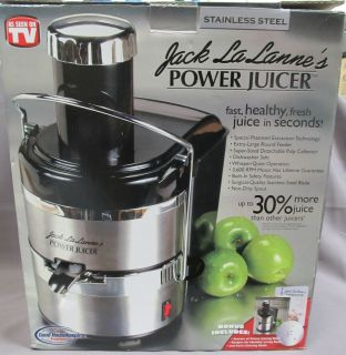 Jack Lalanne Power Juicer Stainless Steel New in Box