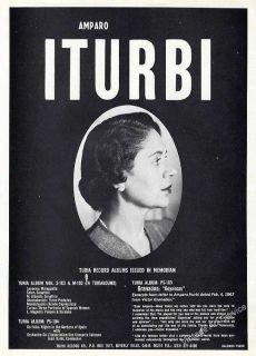 1972 Amparo Iturbi Photo Classical Pianist Vintage Booking Ad
