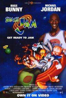 Space Jam Movie Poster 27x40 1996 Michael Jordan Bill Murray Wayne