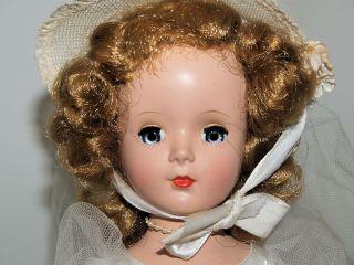 Vintage 1950s Madame Alexander Margaret Bride Doll NMIB Tagged