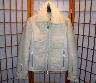 LINDEBERG JOHAN SHEARLING SHEEPSKIN LAMB LEATHER FUR JACKET COAT