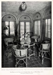 1926 Print Sun Room Franklin Burke Furniture Interior Decor James