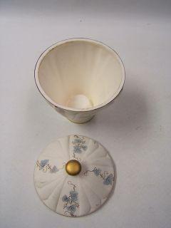 Lefton Bisque Covered Jar Silver Gold Ivy Design 643