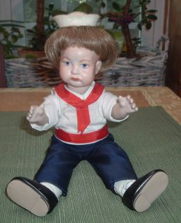 Antique s F B J Sailor Boy Porcelain Doll France