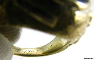 MASONIC Master Mason RING   14k Yellow Gold HEFTY 24.4g Symbols 1927