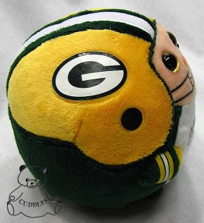 Green Bay Packers Beanie Ballz Ty Plush Toy Stuffed Animal Ball
