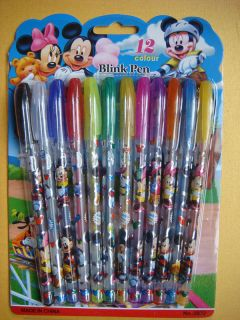 12pcs Highlighters Pens Glitter Ink of Mickey Mouse Kid Gift s 06031