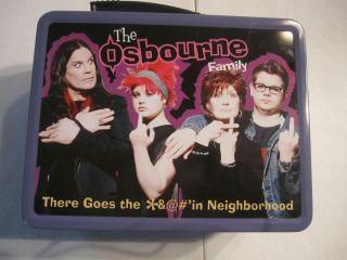 The Osbourne Family Metal Lunch Box w Thermos Ozzy Sharon Kelly Jack