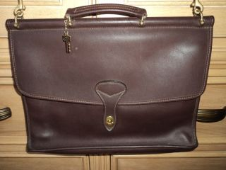 Jack Georges Brown Leather Briefcase Made in The USA