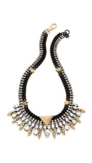 Juicy Couture Spike Collar Necklace with Rhinestones