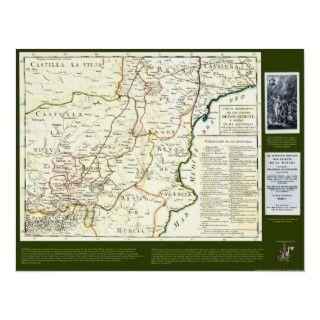 Don Quixote Route Map Mapa de la Ruta del Quijote Posters