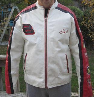 Leather Vintage Dale Earnhardt 8 NASCAR Jacket Mens Large Long 40 44