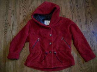 Nils Resort Red Hoodie Fleece Peplum Ski Jacket Coat S