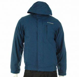 New Columbia Milepost Navy Blue Winter Snowboarding Parka Jacket Coat