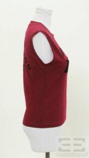 Christian Dior JAdore Dior Maroon Cotton Sleeveless Tank Top Size US