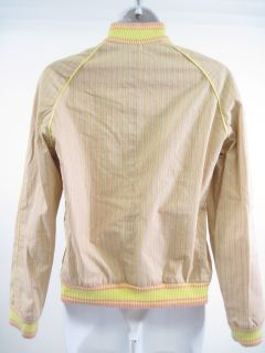 Marc Jacobs Yellow Stripe Zip Up Jacket Coat Sz M