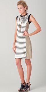 Derek Lam Striped Crew Neck Dress