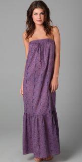 Tibi Malawi Print Long Tier Dress