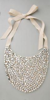 Haute Hippie Crystal Bib Necklace