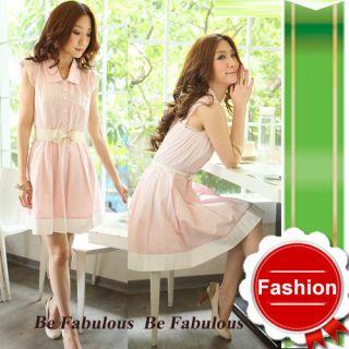 Mod Pink Lace Cap Sleeve Jackie O Dress Free Belt s M