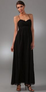 Shoshanna Swiss Dot Long Dress