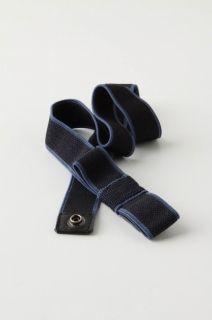 Anthropologie Gift Bow Strech Belt Navy Black Size S