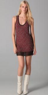 Alexander Wang Metallic Boucle Tank Dress