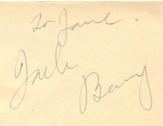 JACK BENNY & MARY LIVINGSTONE 2 EA. VINTAGE 1930s SIGNED ALBUM PAGES