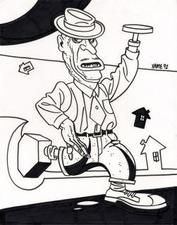 Jaime Hernandez Love Rockets 38 Original Back Cover Art