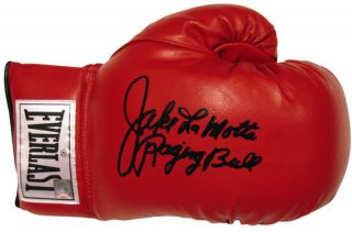 Jake LaMotta Hand Signed Boxing Glove with Exact Proof