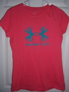 Shirt Women Hunt Antler UA Logo Short Sleeve New with Tags