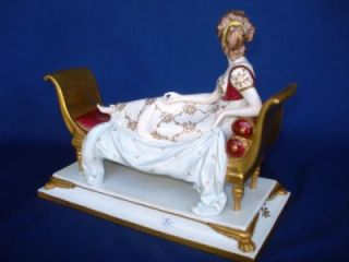 Dresden Porcelain Madame Recamier Figure Jacques Louis David