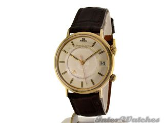 Jaeger LeCoultre Memovox Mens Alarm Watch in Gold Plated Circa 1975