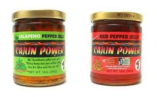 Cajun Power Red Hot Pepper Jelly Jalapeno Your Choice 11 Ounce Jar