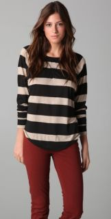 291 Stripe Long Sleeve Raglan Tee