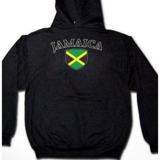 Jamaica Soccer Team Flag Football Country Mens Hoodie