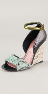 Derek Lam Bristol Open Toe Wedge Sandals