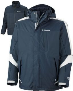 Columbia Whirlibird 3n1 Ski Jacket Parka 4XT 4XL Tall Grey New Mens