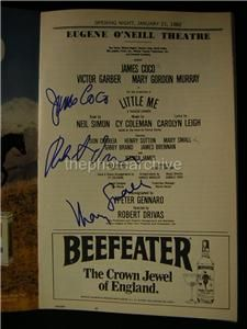1982 James Coco Mary Small Little Me Autographed Signed Theatre