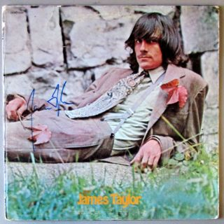 James Taylor James Taylor Self Titled s T Vinyl LP Signed Autographed