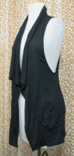 Free People Cute Soft Black Sleeveless Ruched Racerback Sweater Shirt
