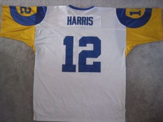 Los Angeles Rams James Harris Throw Back Football Jersey 1974