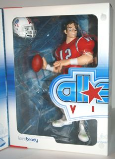 NFL All Star Vinyl Tom Brady Retro NE Patriots Upper Deck Limited