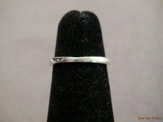 James Avery Sterling Blossom Scroll Ring Sz 5 Ret