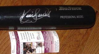 Super RARE Kirby Puckett Autograph Black Rawlings Baseball Bat JSA COA